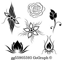 Tattoos clipart clip art black and white stock Tattoo Clip Art - Royalty Free - GoGraph clip art black and white stock