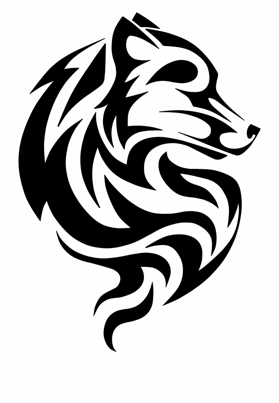 Wolf clipart tattoo graphic transparent library Wolf Tattoo Png - Wolf Head Tattoo Design Free PNG Images & Clipart ... graphic transparent library
