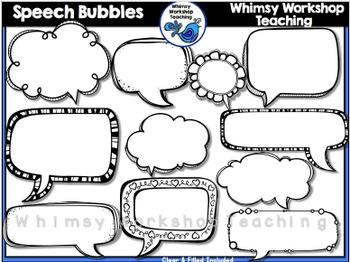 Clipart teacher talking bubble clipart transparent Speech Bubble Clip Art - Whimsy Workshop Teaching clipart transparent