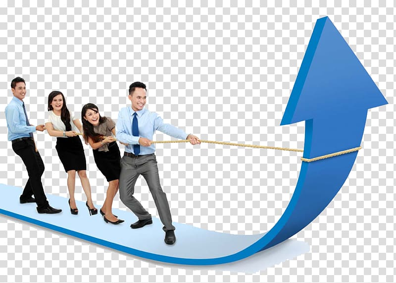 Clipart teamwork pulling up arrow with transparent backgroung svg free stock Four person pulling arrow, Sales management Sales management ... svg free stock