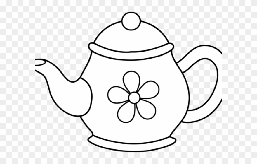 Pot of tea clipart clip art black and white Monochrome Clipart Teapot - Tea Pot Clip Art - Png Download (#839318 ... clip art black and white