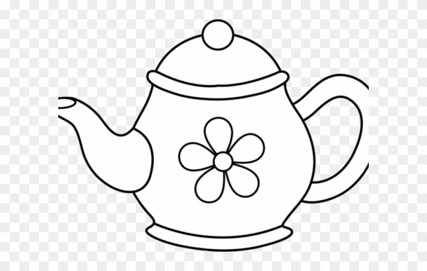 Teapot flower pot clipart png transparent stock Monochrome Clipart Teapot - Tea Pot Clip Art - Png Download (#839318 ... png transparent stock