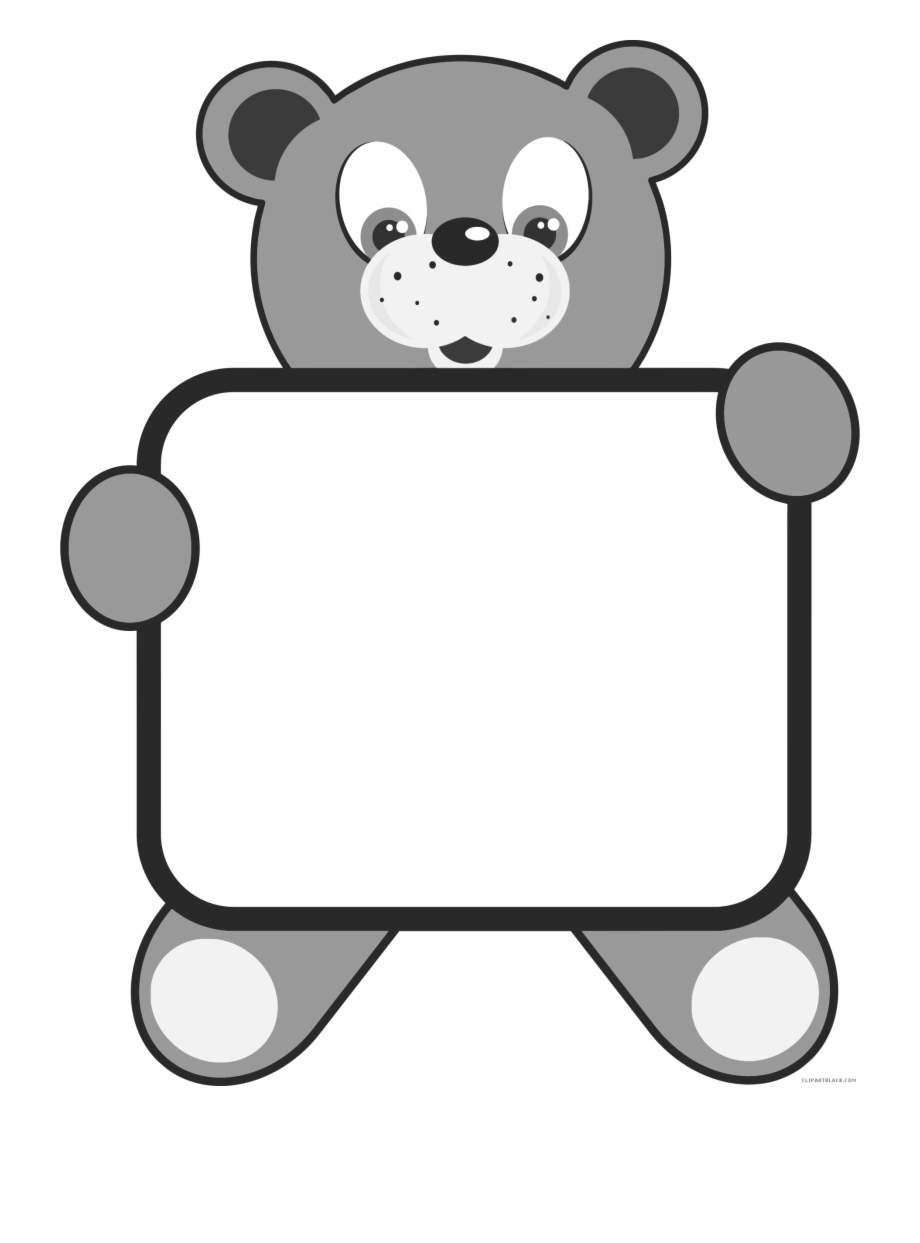 Clipart teddy bear and snowman black and white black and white Teddy Bear Animal Free Black White Clipart Images Clipartblack ... black and white