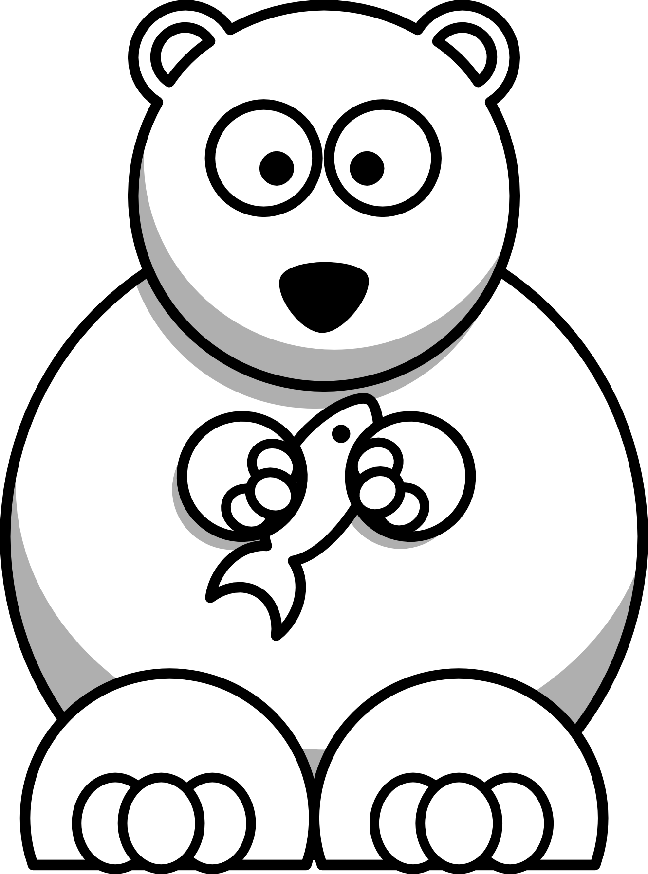 Clipart teddy bear and snowman black and white png library library Christmas Dog Clipart Black And White 10 Clip Art Animals - Cartoon ... png library library