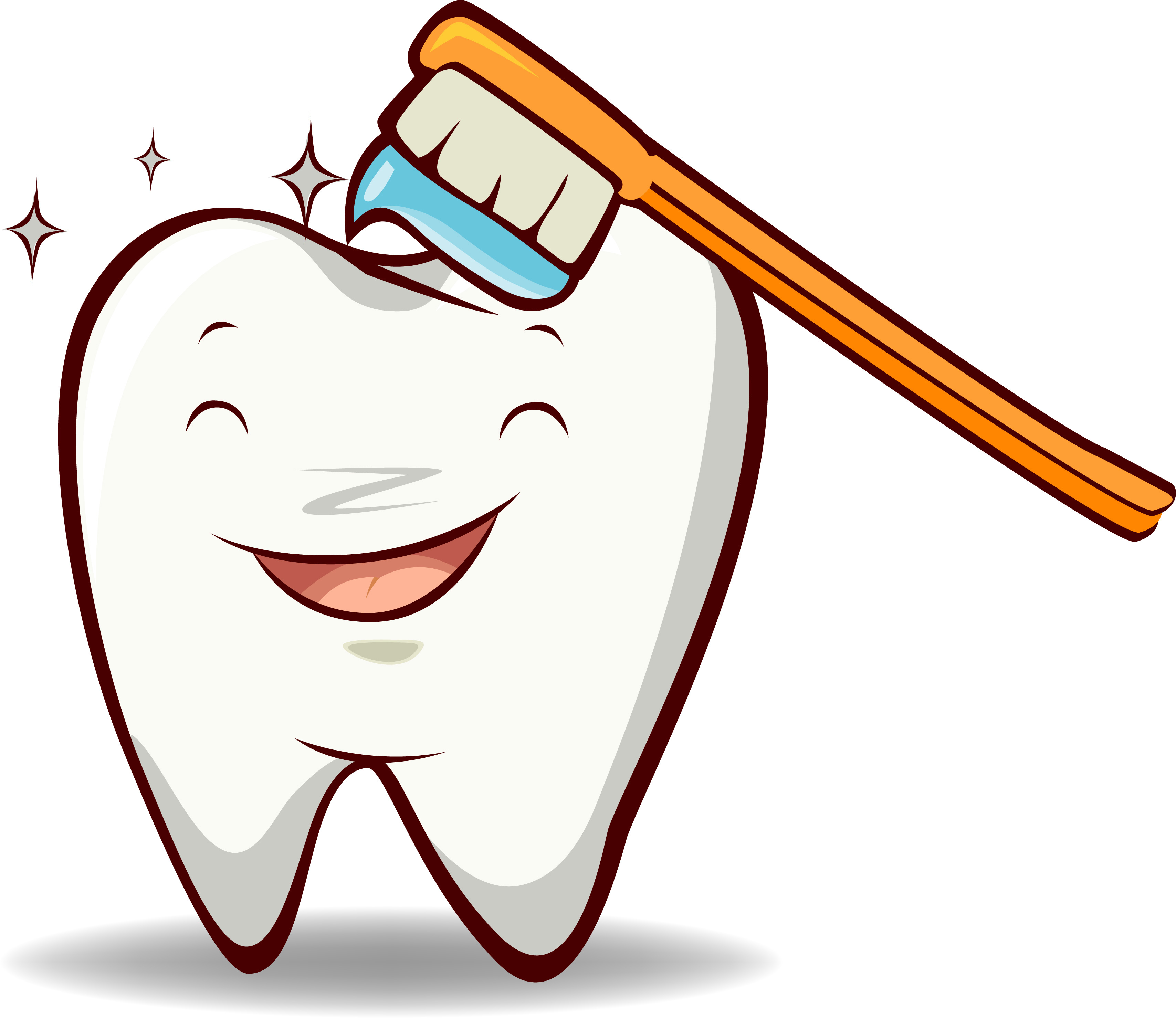 Tooth caricature clipart