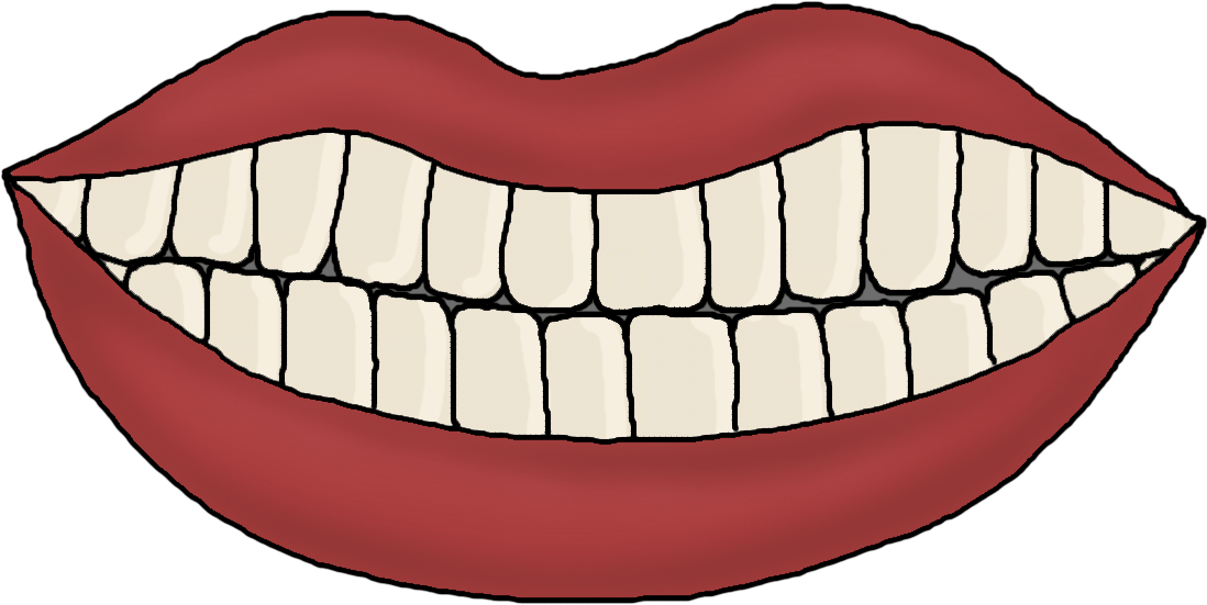 Clipart teetj picture library download HD Brush Your Teeth Clipart - Mouth Template With Teeth , Free ... picture library download