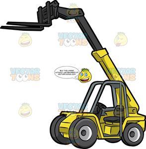 Clipart telehandler banner royalty free stock A Telehandler Forklift banner royalty free stock
