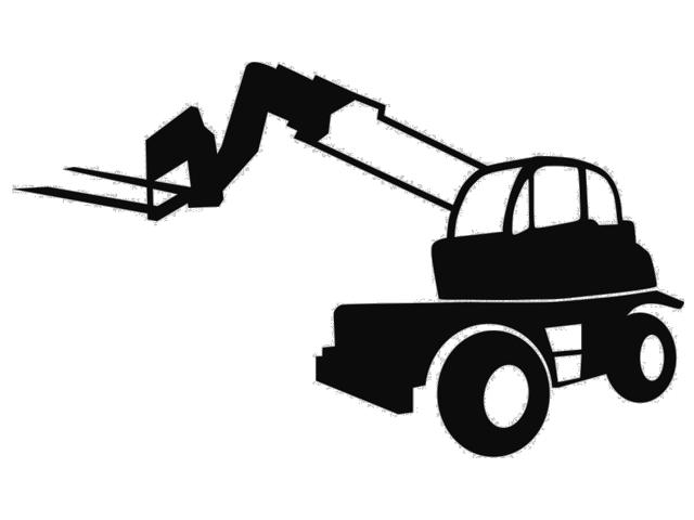 Clipart telehandler picture black and white stock Hinrichs Stapler: Reachstacker - Containerstapler, Gebrauchtstapler ... picture black and white stock