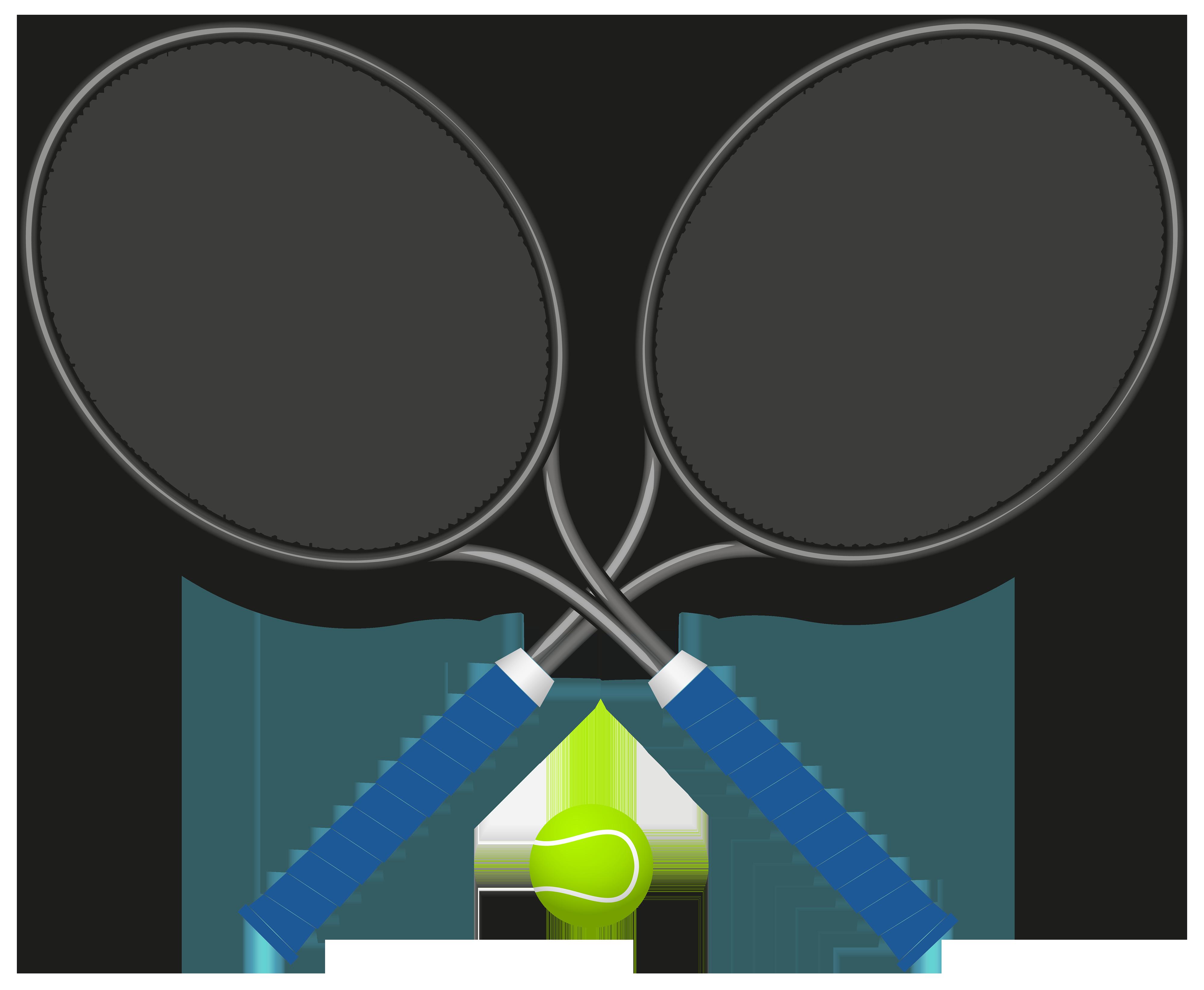 Clipart tennis racket with money clip art freeuse download Tennis Rackets with Ball PNG Clipart - Best WEB Clipart clip art freeuse download