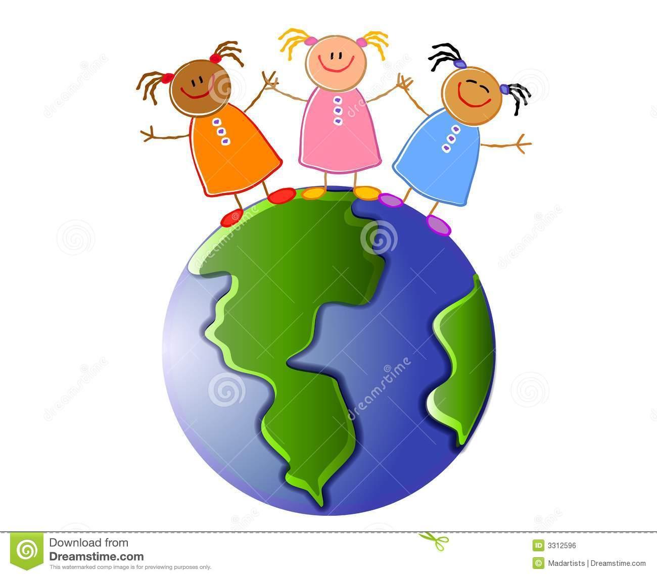 Clipartfest enfants retenant la. Clipart terre gratuit