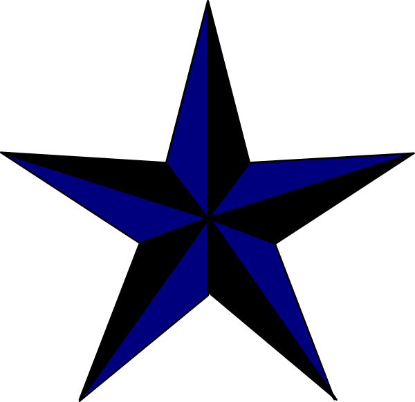 Clipart texas star vector black and white Navy Blue & Black Texas Star Clip Art at Clker.com - vector clip art ... vector black and white