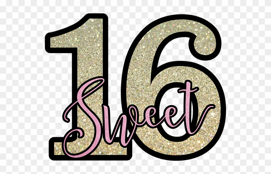 Clipart text sweet girl clipart black and white stock Sweet, Sixteen, Sweet-sixteen, Birthday, Party, Girl - Free Sweet ... clipart black and white stock