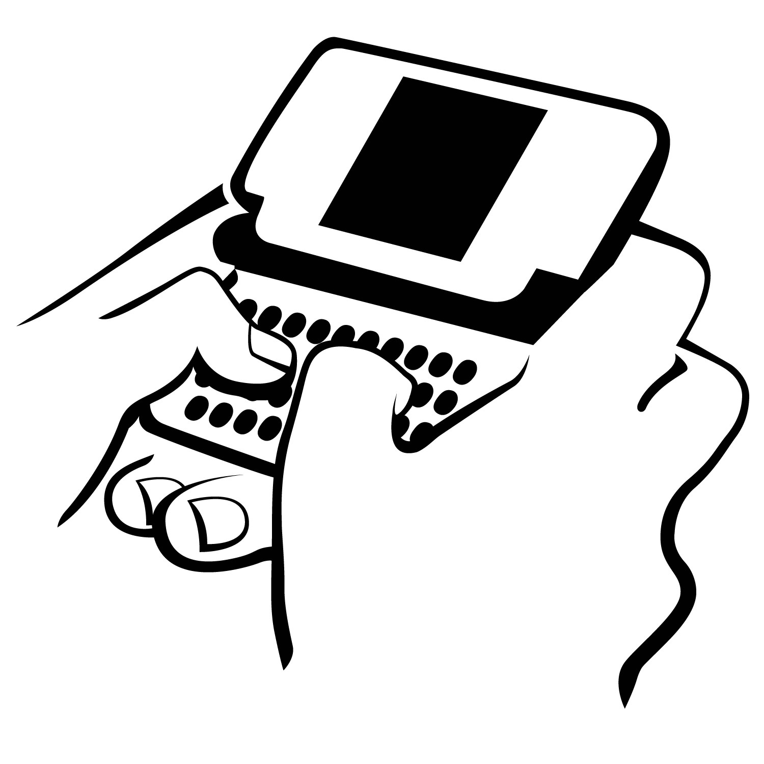 Texting clipart black and wihte vector free Texts clipart 3 » Clipart Portal vector free