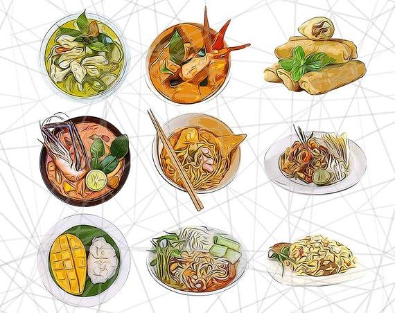 Clipart thai food