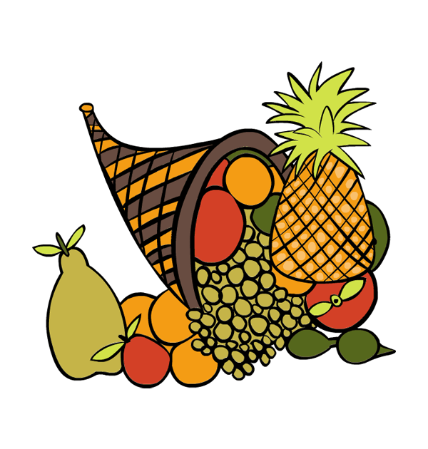 Clipart thanksgiving pineapple banner royalty free stock Orange Thanksgiving Baskets Clipart banner royalty free stock
