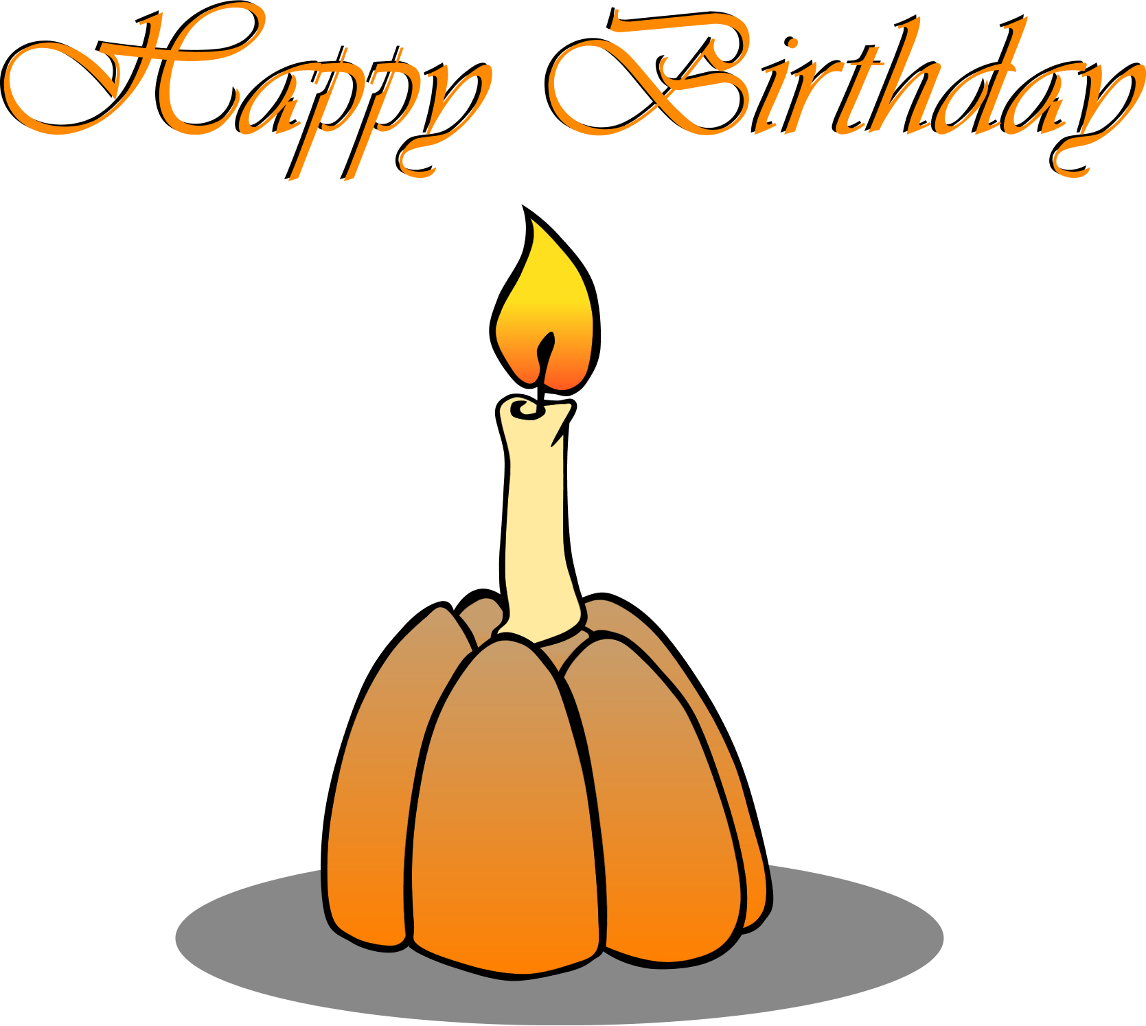 Happy birthday pumpkin clipart