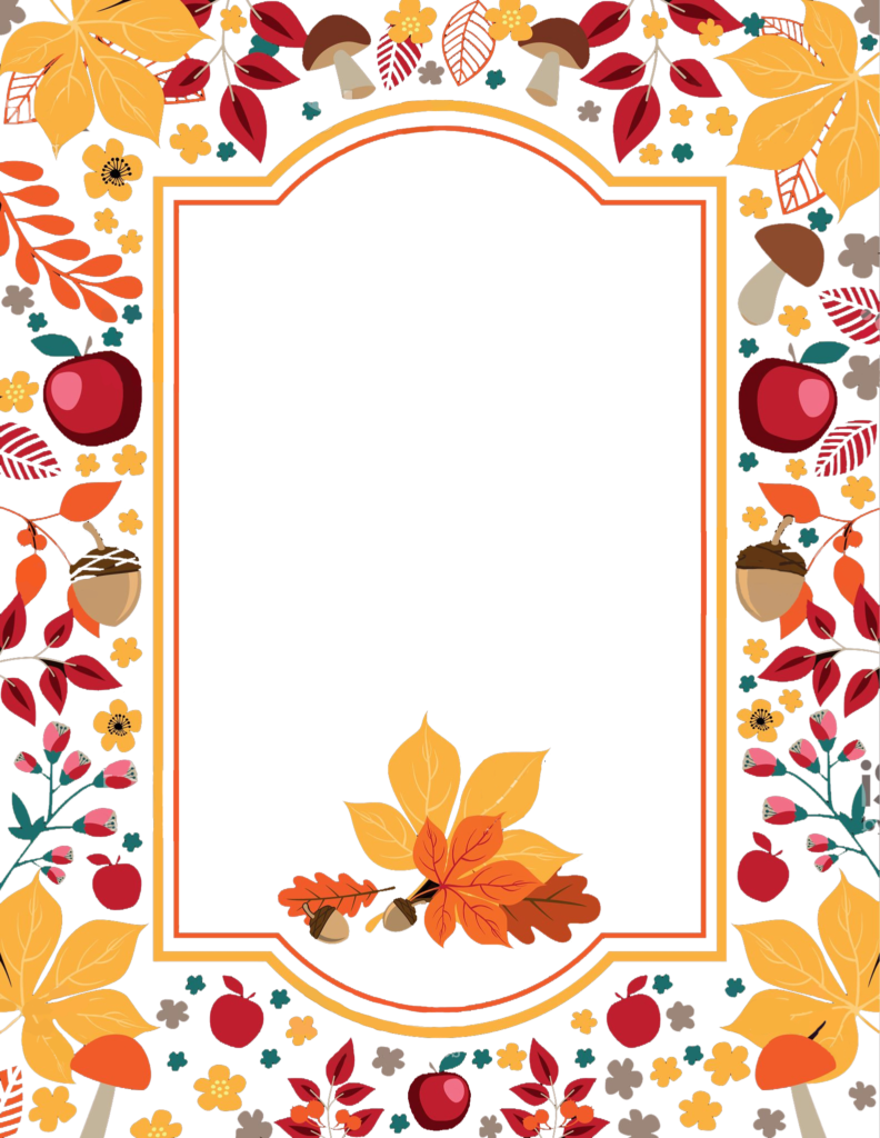 Thanksgiving border clipart free image freeuse library Free Thanksgiving Flowers Border PNG - peoplepng.com image freeuse library