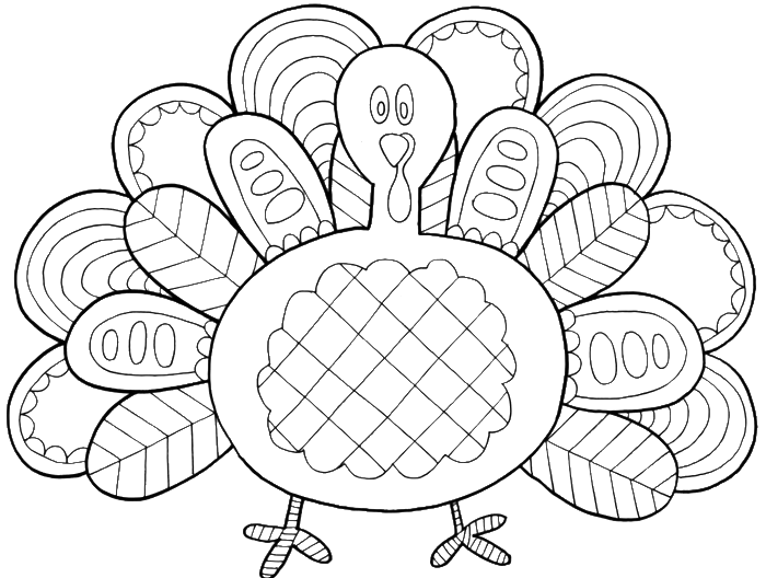Thanksgiving hats coloring page clipart png freeuse download Turkey Feathers With A Very Unique Coloring Pages - thanksgiving ... png freeuse download
