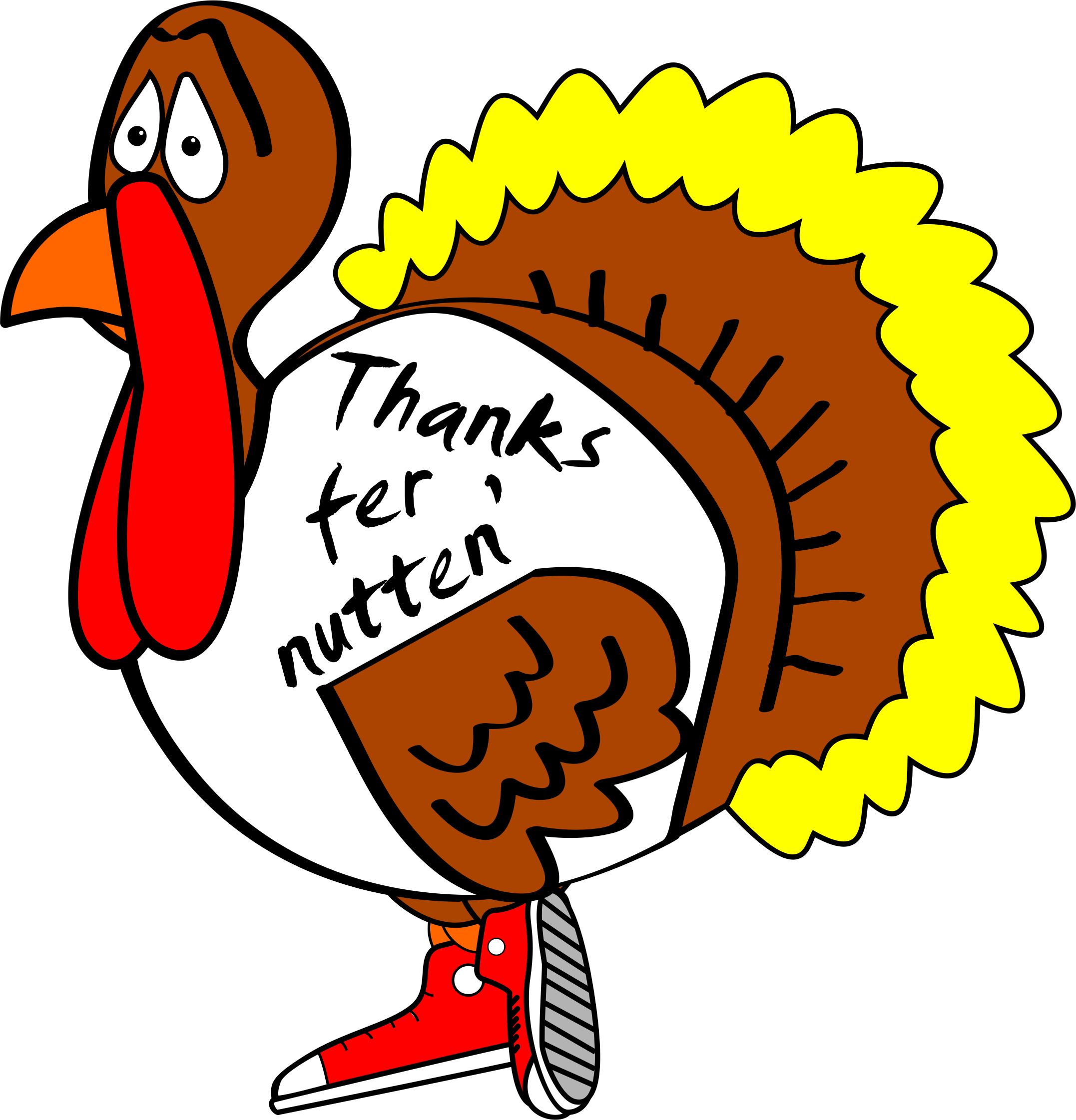 Free clipart turkey thanksgiving image free library Silly Turkey Clipart at GetDrawings.com | Free for personal use ... image free library