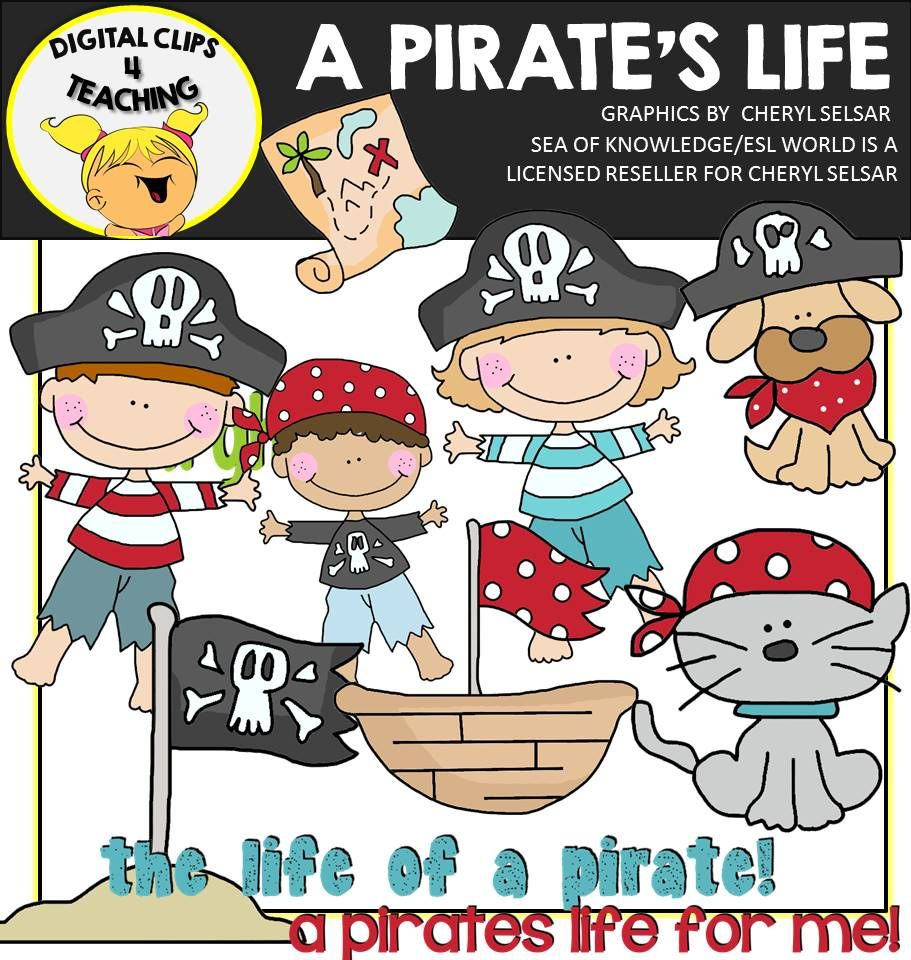 Clipart that you can resell as is clipart Pirate Clipart | ESL World Teaching Resources TPT | Pirate images ... clipart
