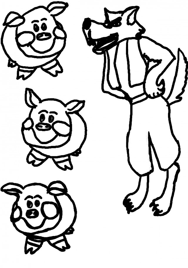 Clipart the true story of the 3 little pigs image freeuse stock 3 Little Pigs Clipart Group with 82+ items image freeuse stock