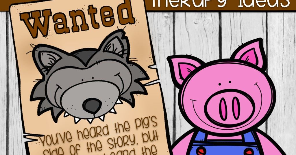 Clipart the true story of the 3 little pigs jpg transparent stock The Speech Owl: The True Story of The Three Little Pigs (Wild About ... jpg transparent stock