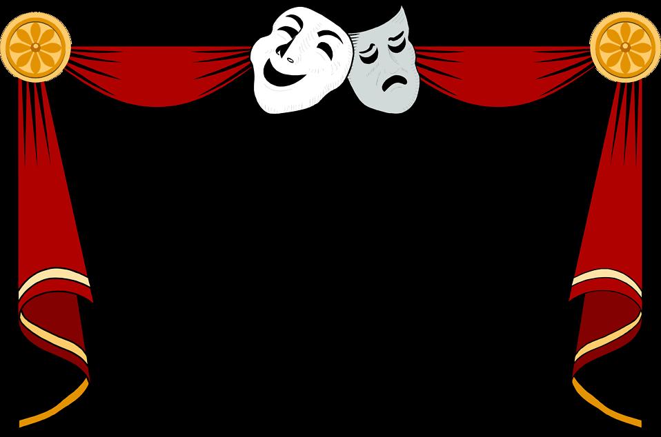 Clipart theatre logo clip art free stock Theatre Borders Clipart - Clipart Kid clip art free stock