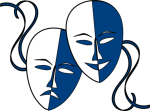 Clipart theatre logo png black and white library Theatre Masks Clip Art at Clker.com - vector clip art online ... png black and white library