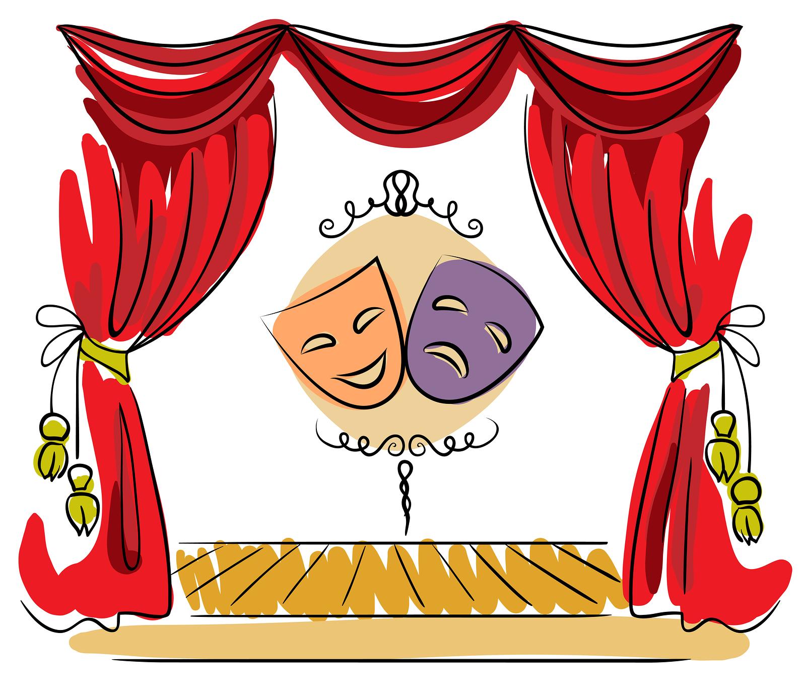 Clipart theatre logo picture free download Drama Stage Clipart - Clipart Kid picture free download