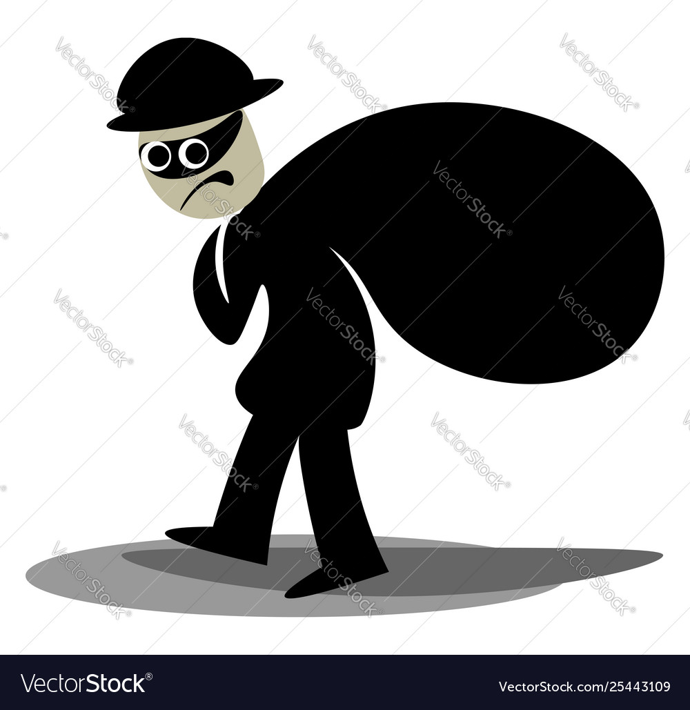 Carrying clipart image free Clipart a thief carrying a black sack of image free