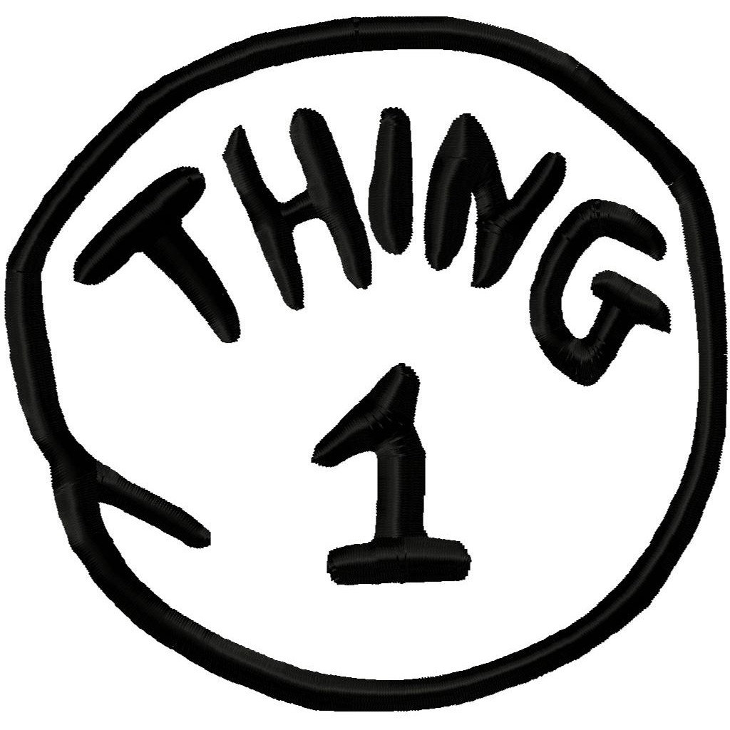 Clipart thing 1 and thing 2 image black and white Thing 1 And Thing 2 Black And White Clipart - Clipart Kid image black and white