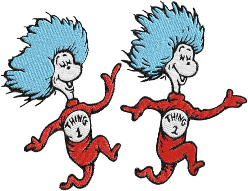 Clipart thing 1 and thing 2 graphic transparent stock Dr. Seuss Thing 1 And Thing 2 Clipart - Clipart Kid graphic transparent stock