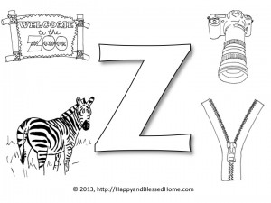 Clipart things that start with the letter z svg free stock Preschool Alphabet Games: Z is for Zipper - Happy and Blessed Home svg free stock