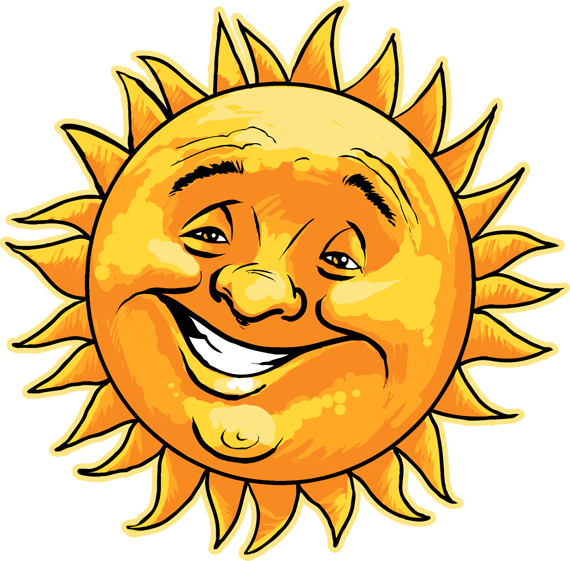 Clipart thinking sun picture freeuse library Cartoon Sun Clipart at GetDrawings.com   Free for personal use ... picture freeuse library