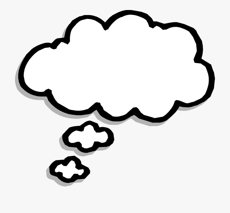 Question thought bubble clipart black and white banner freeuse library Great Free Thought Bubble, Download Free Clip Art, - Thought Bubble ... banner freeuse library