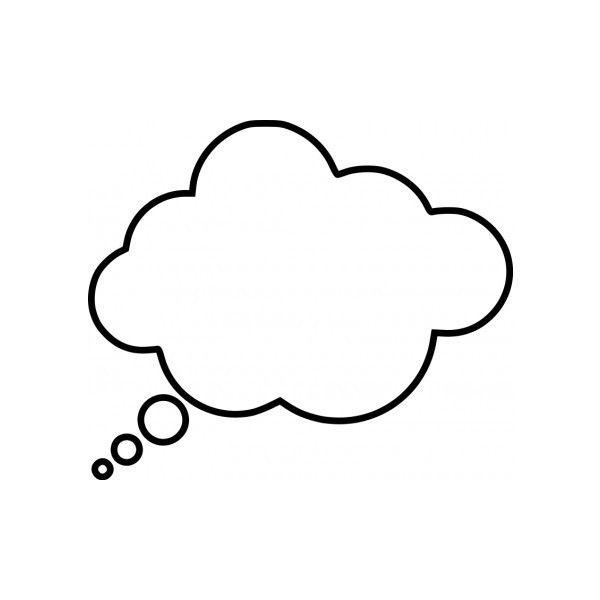 Cartoon thought bubble Vector clip art - Free vector for free ... vector freeuse