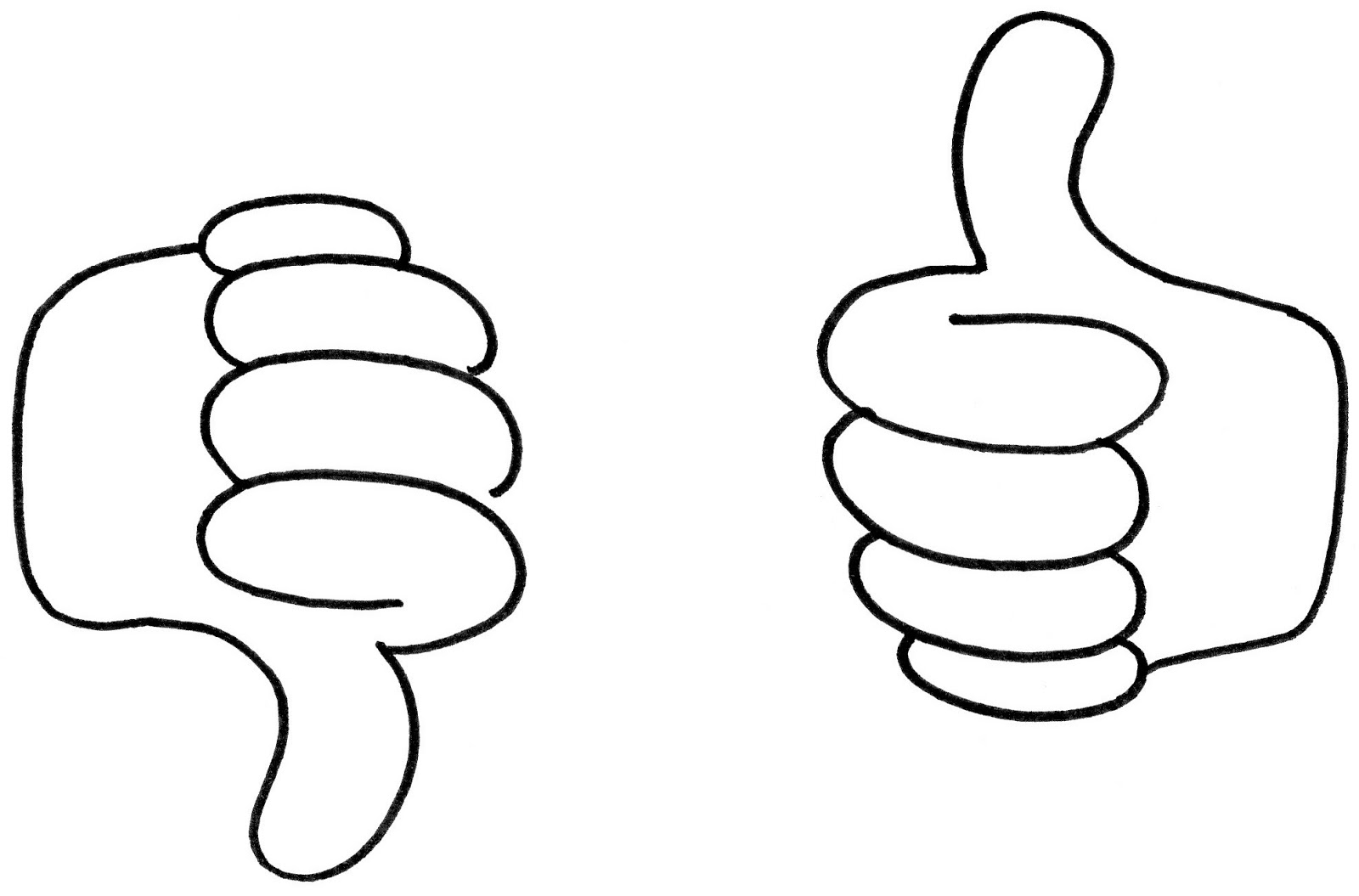 Clipart thumbs up and down graphic free download Thumbs up down clipart - ClipartFest graphic free download