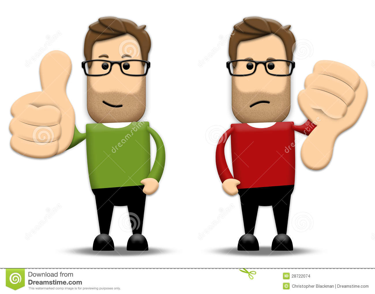 Clipart thumbs up and down picture free stock Thumbs Up, Thumbs Down Stock Images - Image: 28722074 picture free stock