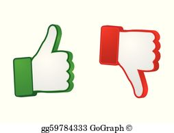 Clipart thumbs up and down svg free stock Drawing - Thumbs up & down buttons. Clipart Drawing gg54342222 ... svg free stock