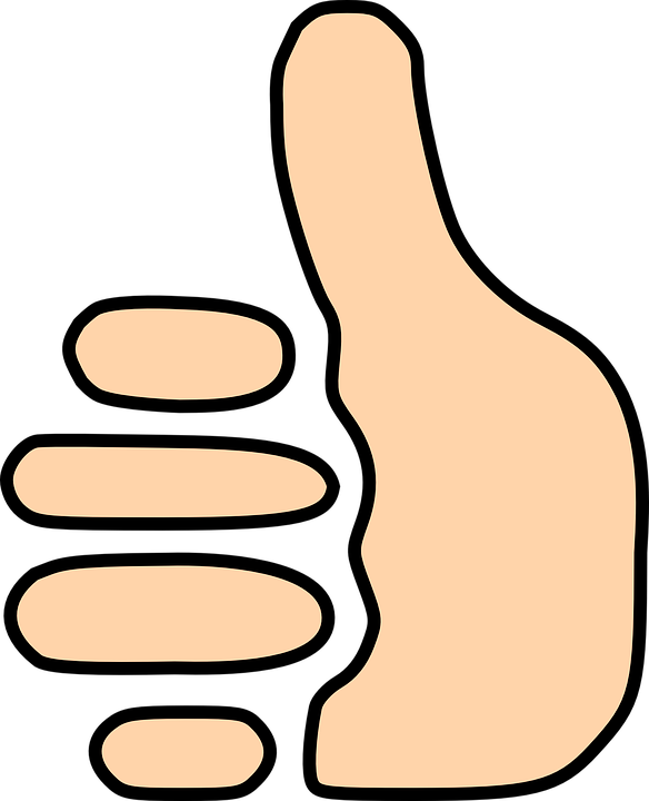Clipart thumbs up gif vector freeuse stock Free vector graphic: Thumbs Up, Thumb, Sign, Vote, Good - Free ... vector freeuse stock
