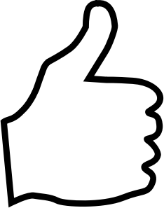Clipart thumbs up microsoft picture black and white Clipart - Thumbs Up picture black and white