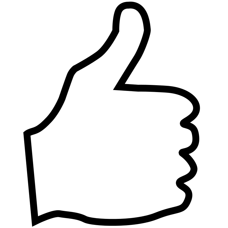 Clipart thumbs up png png library Thumbs up outline clipart - ClipartFest png library