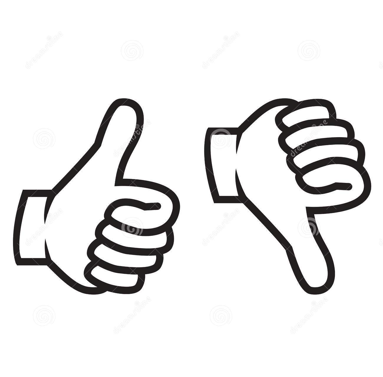 Clipart thumbs up silhouette. Down clip art gesture