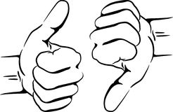 Clipart thumbs up silhouette. Man winner stock images
