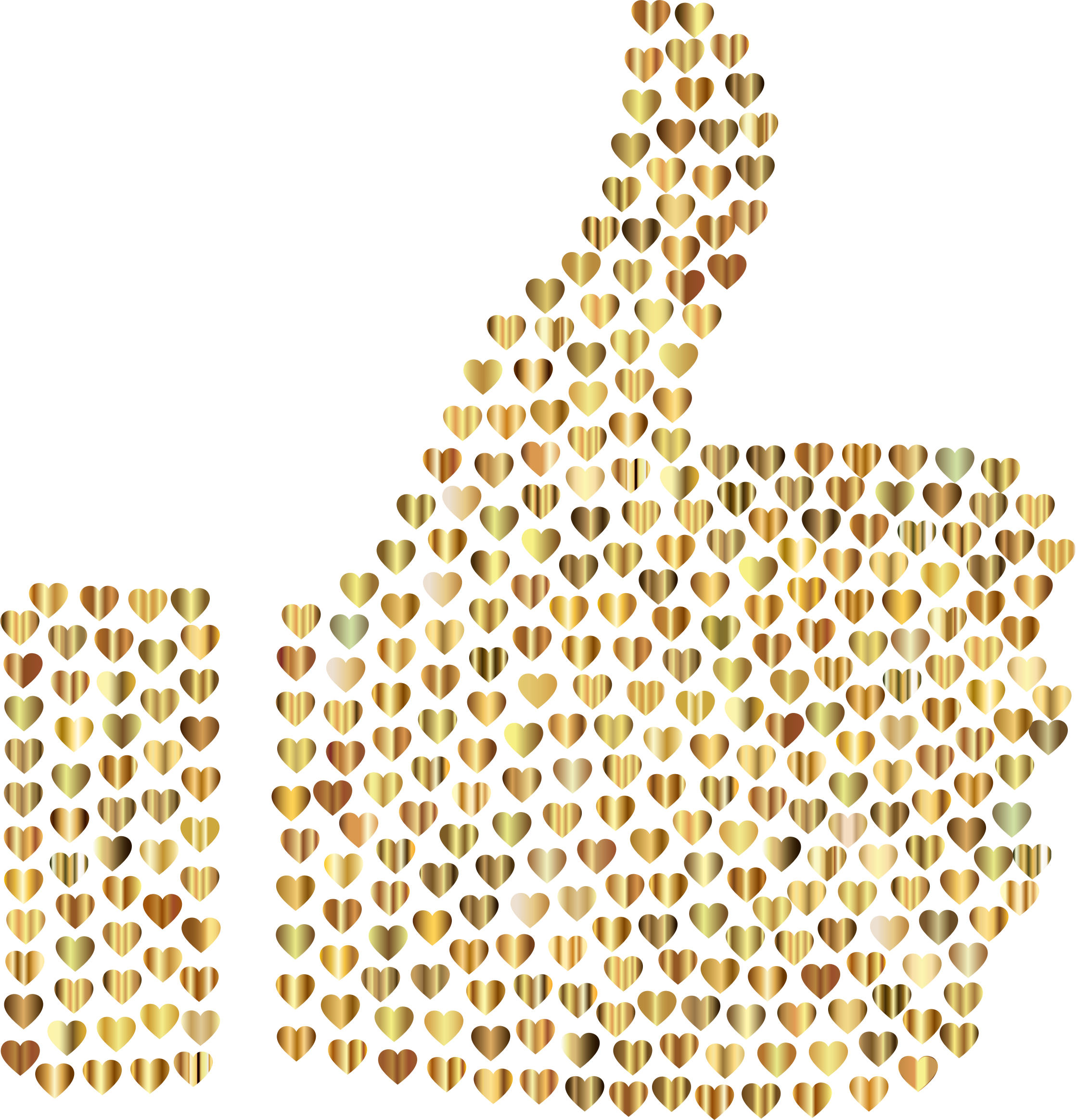 Clipart thumbs up silhouette vector library Clipart - Prismatic Hearts Thumbs Up Silhouette 8 No Background vector library