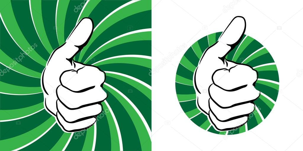 Stock vector hauvi graphic. Clipart thumbs up silhouette