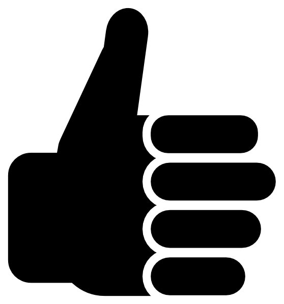 Clipart thumbs up silhouette. Down gesture clip art
