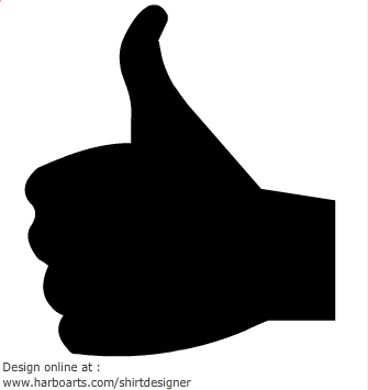 Thumb vector best download. Clipart thumbs up silhouette