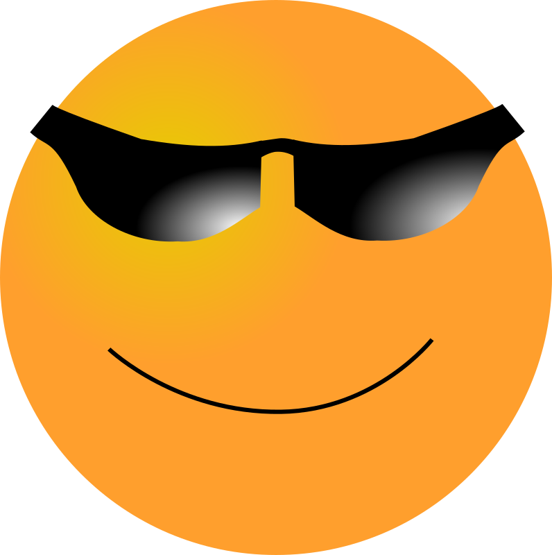 Clipart thumbs up smiley face banner Cool Smiley Face With Shades And Thumbs Up. Cool Smiley Face Thumbs ... banner