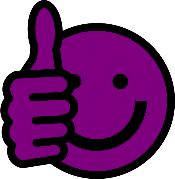 Clipart thumbs up smiley face image transparent stock Purple Smiley-Face Thumbs Up | Thumbs Up Smiley Face Clip Art ... image transparent stock